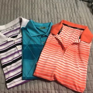 Lot of 3 men's golf shirts large wholesale #1